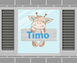 Raamsticker Timo