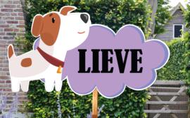 Geboortebord Lieve - hondje jack russel