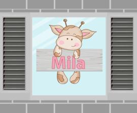 Raamsticker Mila