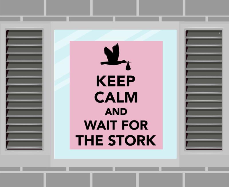 Raamsticker Keep Calm roze