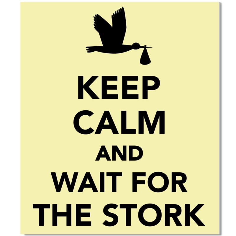Tuinbord Keep Calm geel