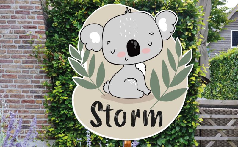 Geboortebord Storm - Koala