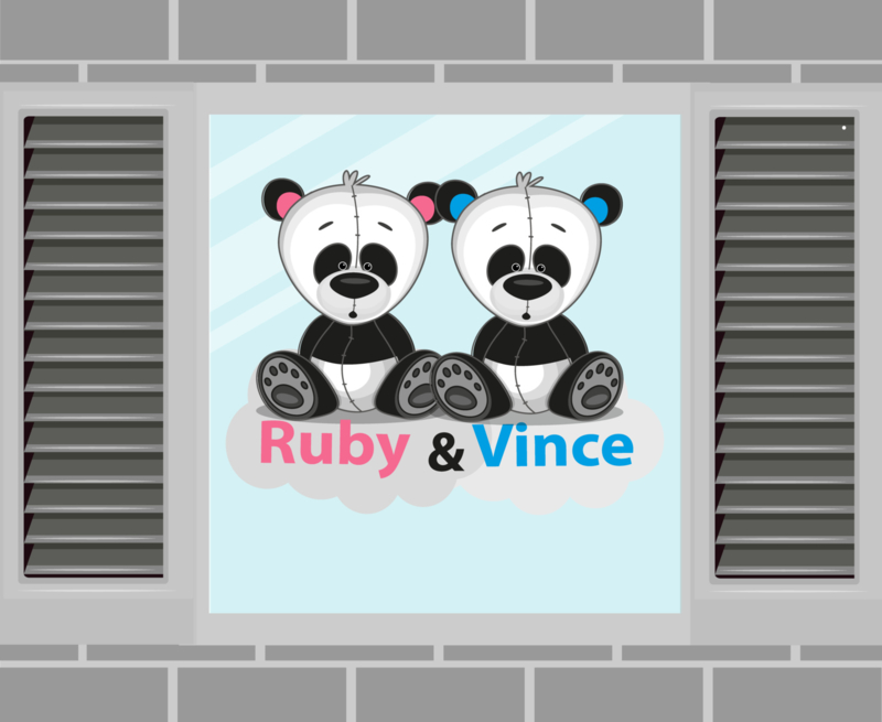 Raamsticker Ruby & Vince