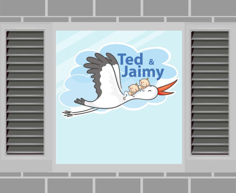 Raamsticker Ted & Jaimy