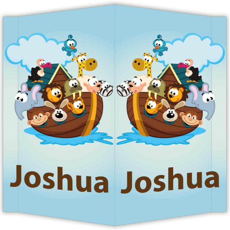 Raambord Joshua - geboortebord raam ark van noah boot dieren