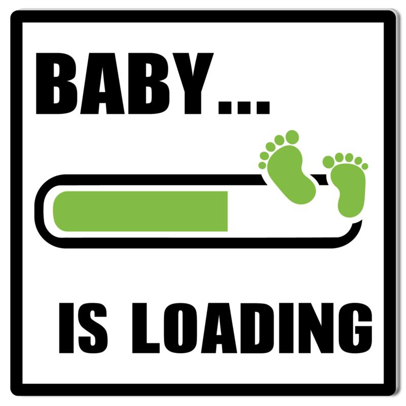 Tuinbord Baby Loading groen