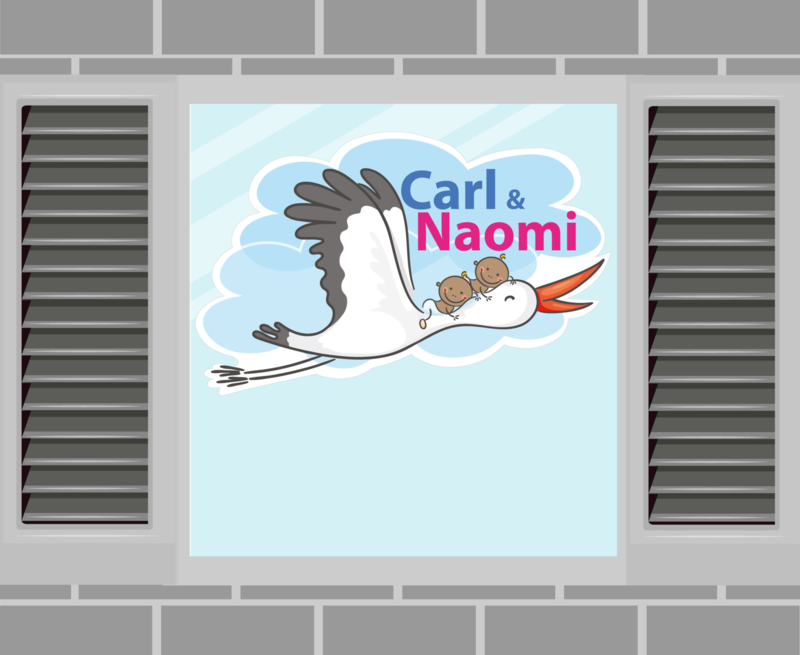 Raamsticker Carl & Naomi