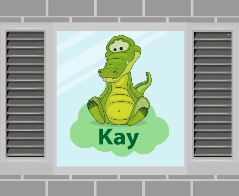 Raamsticker Kay