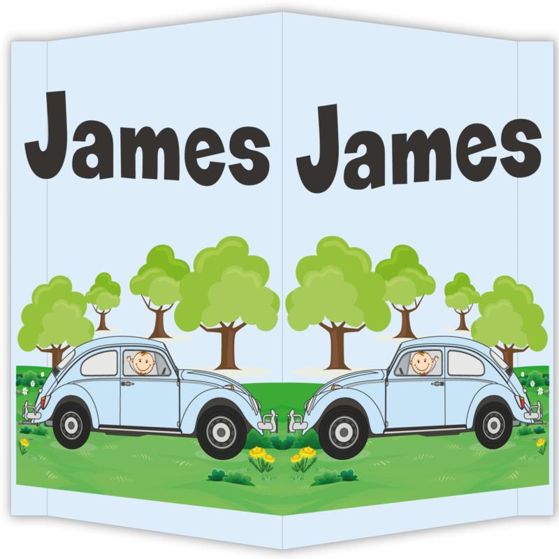 Raambord James - geboortebord raam volkswagen kever vw beatle