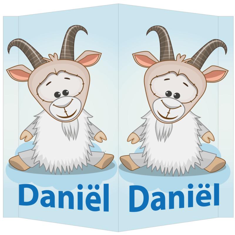 Raambord Daniël - geboortebord raam bokje boerderij