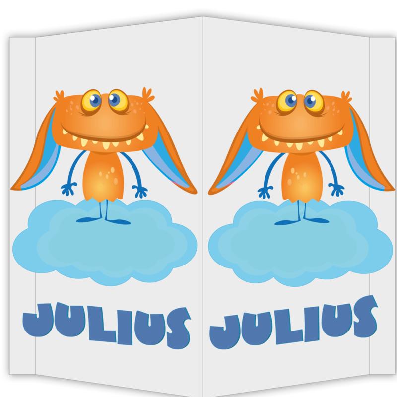 Raambord Julius - geboortebord raam monstertje