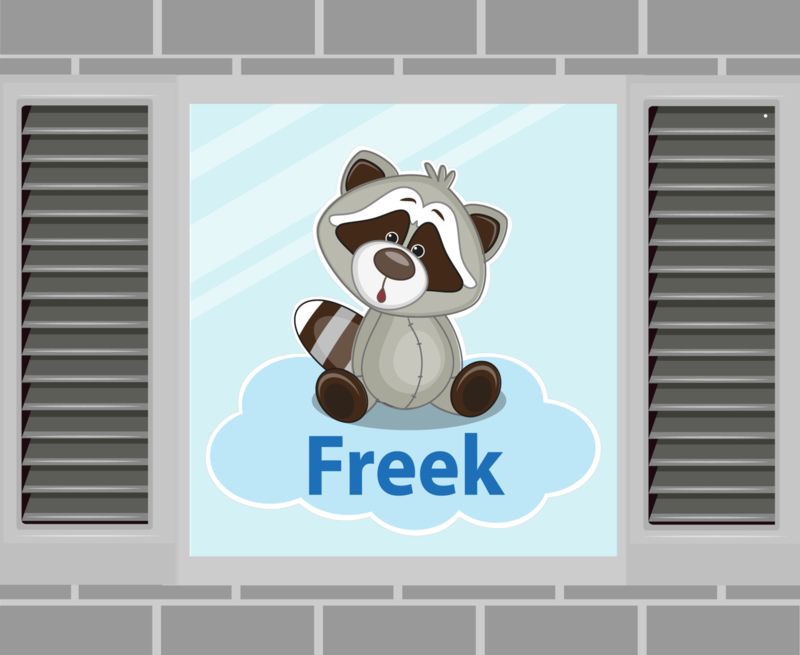 Raamsticker Freek