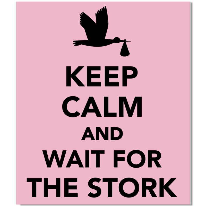 Tuinbord Keep Calm roze