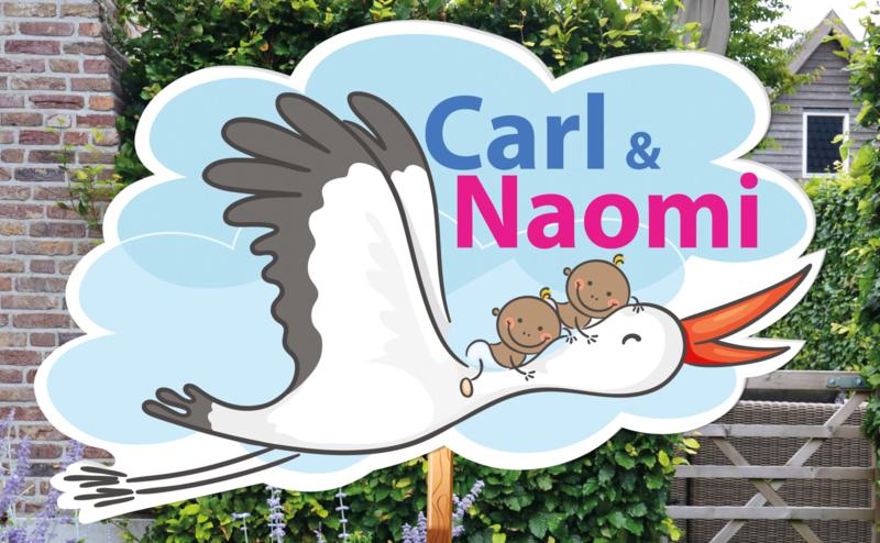 Geboortebord Carl & Naomi