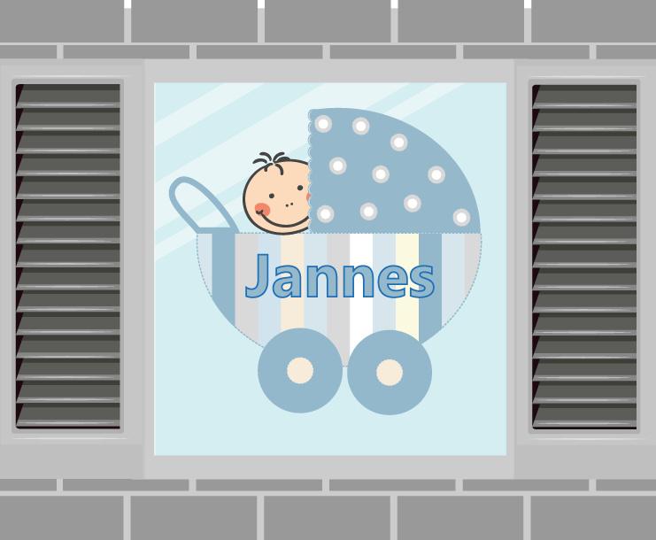 Raamsticker Jannes