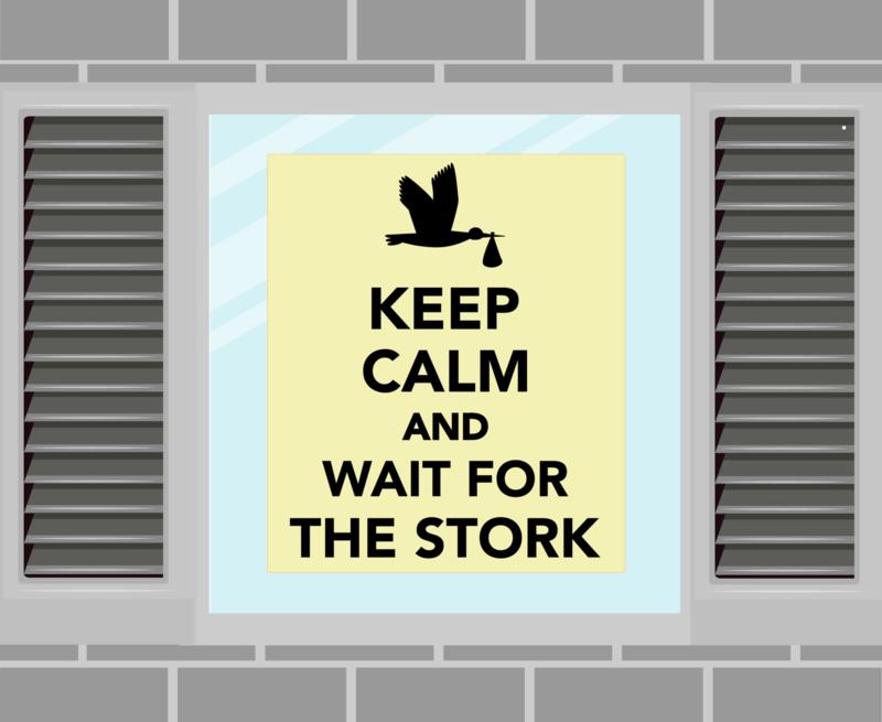 Raamsticker Keep Calm geel