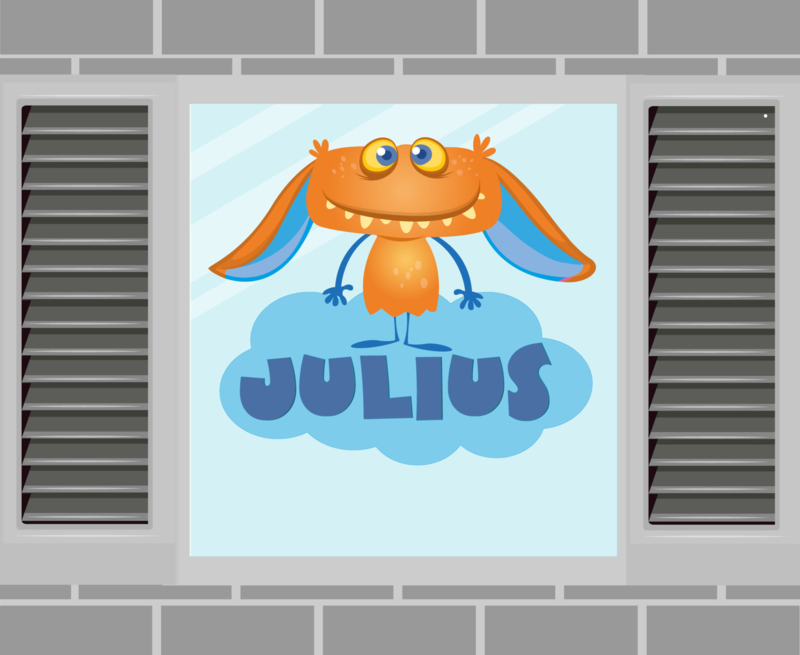 Raamsticker Julius