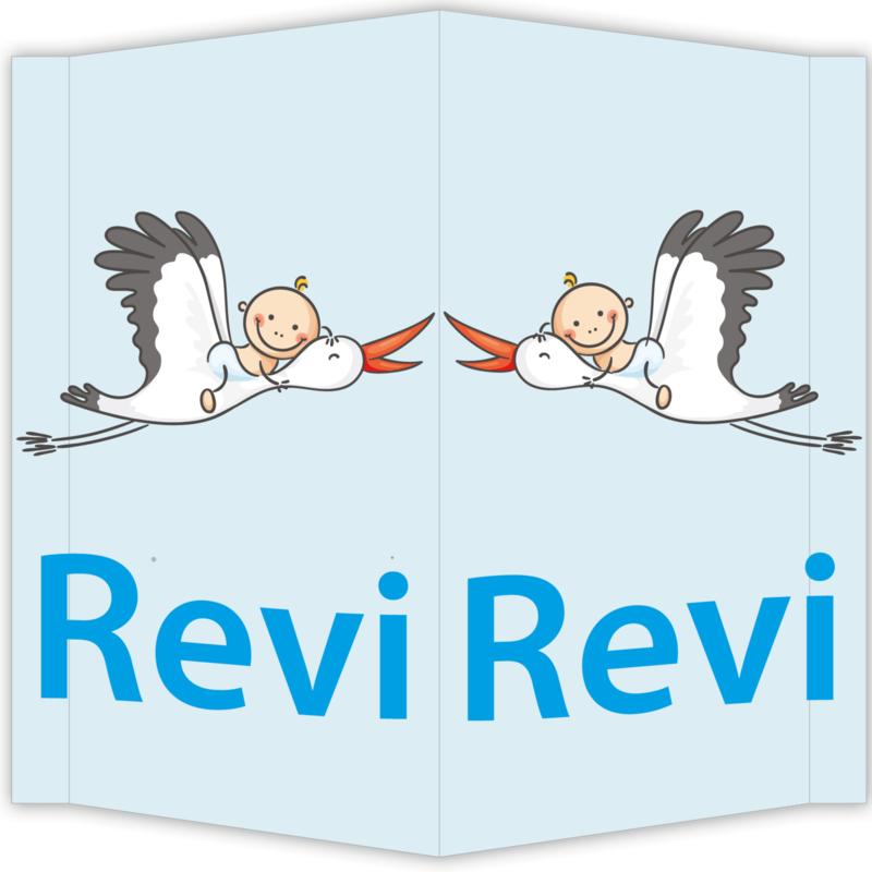 Raambord Revi - geboortebord raam ooievaar