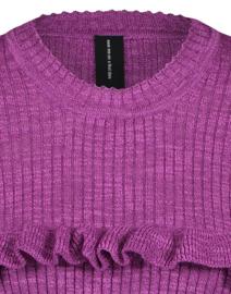 Jane Lushka 2021 Milo fuxia gebreide pullover met lange mouw KN621225301L