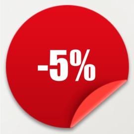 Shop met 5% korting op je hele bestelling! Ook geldig op Sale artikelen
