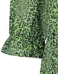 Jane Lushka groene viscose top CL620HS006 Leopard