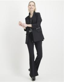Jane Lushka zwarte travelstof blazer Viena BU120AW200Z