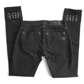 Miss Me cuffed ankle skinny jeans JP7214CK4 zwart