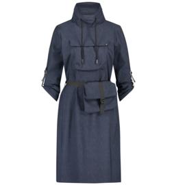 *AKTIE* Jane Lushka 2021-2022 Kasia travelstof jurk met tasje UNN92114095G jeans blauw