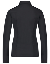 Jane Lushka 2021-2022 Kikkie zwarte travelstof blouse U7211100