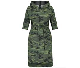 Jane Lushka 2021 army groene jurk Veronica met riem UK9212830KM