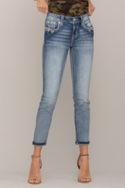 Miss Me mid-rise ankle skinny jeans M3548FA