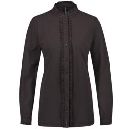Jane Lushka donker bruine travelstof blouse Lora U720AW110K
