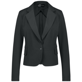 Jane Lushka zwarte travelstof blazer Atina U120AW790