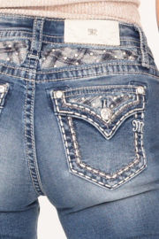 Miss Me mid-rise straight jeans M3616T