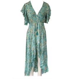 Capucine 2021 Bohemian jurk Dona Ocean Blue