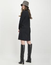 Jane Lushka 2020-2021 zwarte travelstof jurk Zoe U920AW720B
