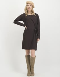 Jane Lushka 2020-2021 bruine travelstof jurk Lisi U920AW004