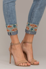 Miss Me mid-rise ankle skinny jeans M3549FA