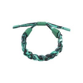 Gratis bij een bestelling vanaf €175 - Polyester armband Braid camo groen