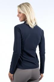 Jane Lushka 2021-2022 Kikkie blauwe travelstof blouse U7211100