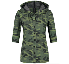 Jane Lushka 2021 Veronica army groene travelstof blouse UK7212830KM