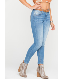 Miss Me mid-rise ankle skinny jeans M8977AK