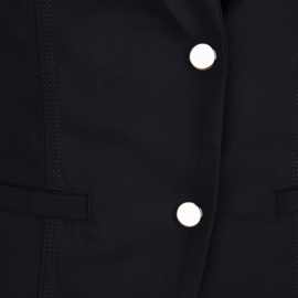 Jane Lushka lange blauwe travelstof blazer Brigitte U120SS002