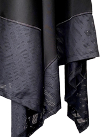 Mc Planet by Innate 2021 Fuka zwarte travelstof a-lijn jurk