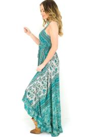 Capucine 2021 Bohemian jurk Cristina Turquoise