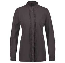 Jane Lushka 2020-2021 bruine travelstof blouse Lora U720AW110K