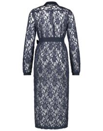 Jane Lushka 2021 Edith blauwe kanten jurk  met riem M9212274