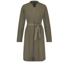 *AKTIE* Jane Lushka 2021-2022 Isla army travelstof jurk met riem U9211680/1