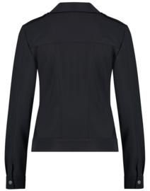 Jane Lushka 2021 Riva zwarte travelstof jacket U1212950ZDC