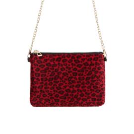 Gratis bij een bestelling vanaf €200 - Rode schoudertas Animal 26x20 cm